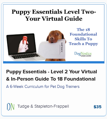 Puppy Essentials – Level 2 Your Virtual & In-Person Guide To 18 Foundational Puppy Skills